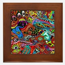 Abstract Painting Framed Tile