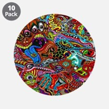 """Abstract Painting 3.5"""" Button (10 pack)"""