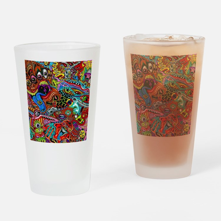 Abstract Painting Drinking Glass