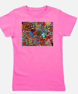 Abstract Painting Girl's Tee