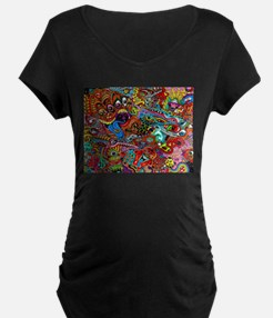 Abstract Painting Maternity T-Shirt