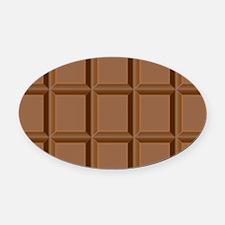 Chocolate Tiles Oval Car Magnet