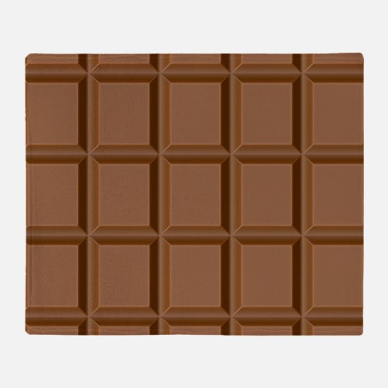 Chocolate Tiles Throw Blanket