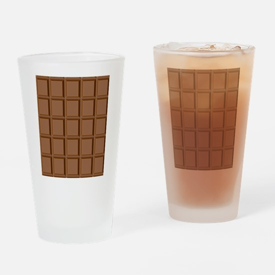 Chocolate Tiles Drinking Glass