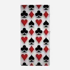 Spades Clubs Diamonds and Hearts Beach Towel