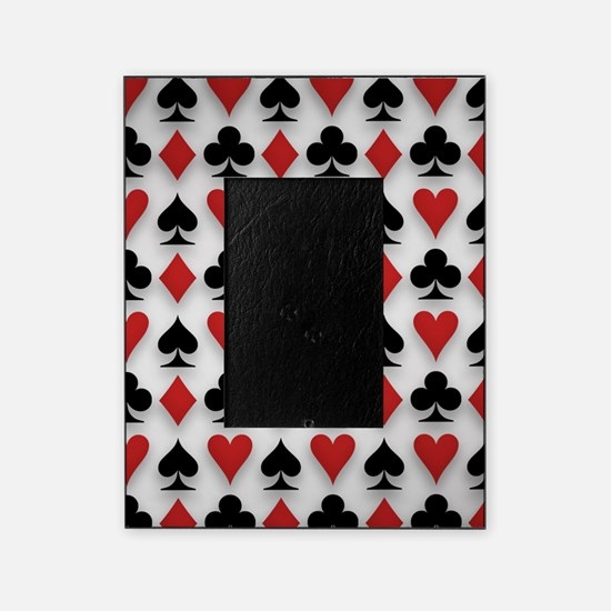 Spades Clubs Diamonds and Hearts Picture Frame