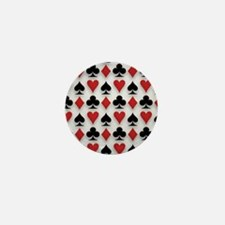 Spades Clubs Diamonds and Hearts Mini Button (10 p