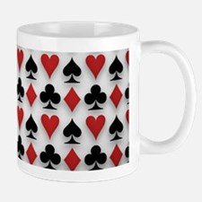 Spades Clubs Diamonds and Hearts Mugs