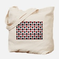 Spades Clubs Diamonds and Hearts Tote Bag