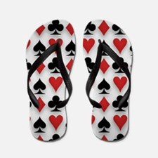 Spades Clubs Diamonds and Hearts Flip Flops