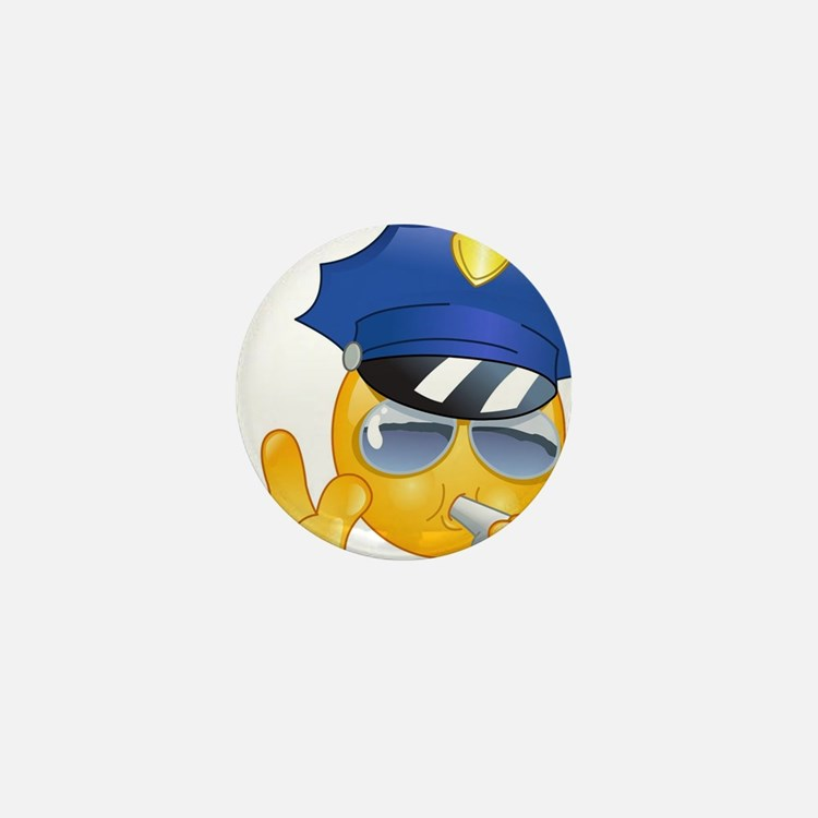police emoji Mini Button