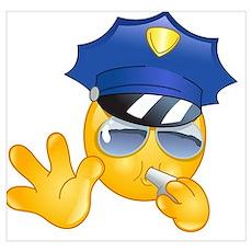 police emoji Poster