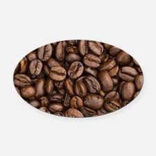 Coffee Beans Oval Car Magnet