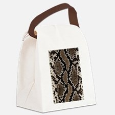 Snake Skin Canvas Lunch Bag