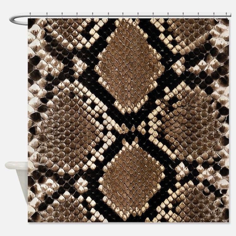 Snake Skin Shower Curtain