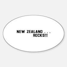 New Zealand . . . Rocks! Oval Decal