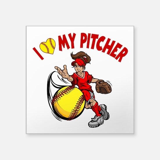 I Love My Pitcher, By Sticker