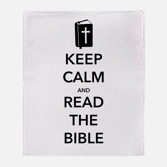 Read Bible Throw Blanket