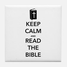 Read Bible Tile Coaster