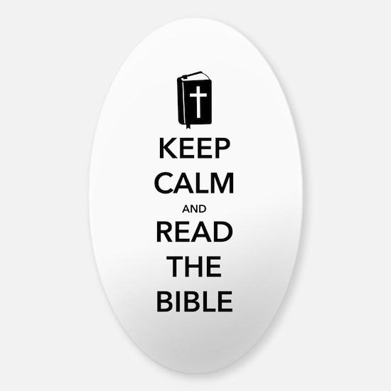 Read Bible Sticker (Oval)