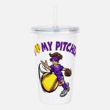 I love my pitcher, by Acrylic Double-wall Tumbler