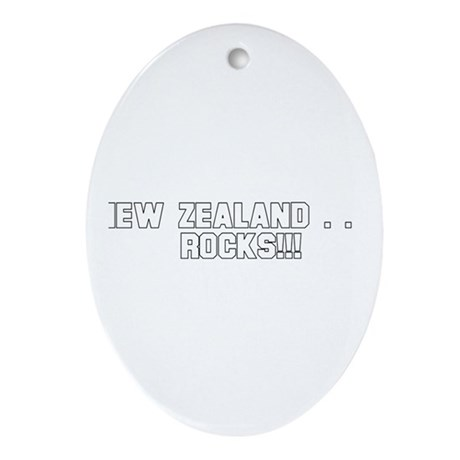 New Zealand . . . Rocks!!! Oval Ornament