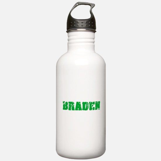 Braden Name Weathered Water Bottle