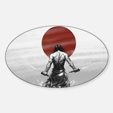 Samurai Glory Sticker (Oval)