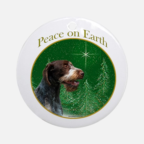 Wirehaired Peace Ornament (Round)