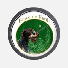 Wirehaired Peace Wall Clock
