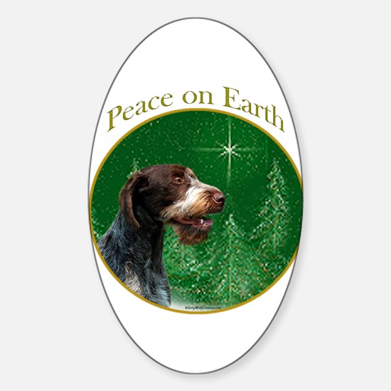 Wirehaired Peace Oval Decal