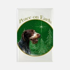 Wirehaired Peace Rectangle Magnet