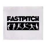 Fastpitch softball Blankets