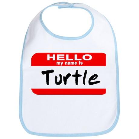 Hello My Name Is Turtle Bib