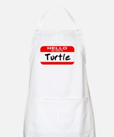 Hello My Name Is Turtle BBQ Apron