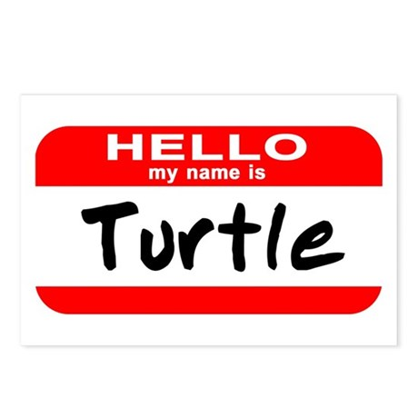 Hello My Name Is Turtle Postcards (Package of 8)