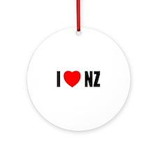 I Love New Zealand Ornament (Round)