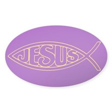 Jesus Fish Ichthys Gold Pencil Prin Decal