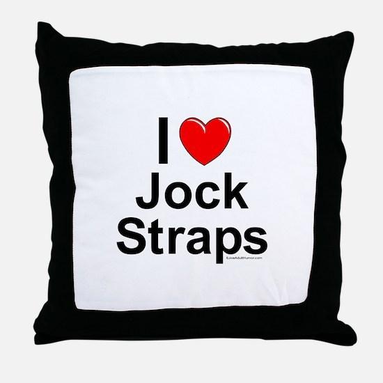 Jock Straps Throw Pillow