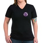 A Pocket Groan of Ghosts Women's V-Neck Dark T-Shi