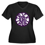 A Groan of Ghosts Women's Plus Size V-Neck Dark T-
