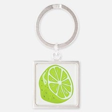Tropical Summer Lime Square Keychain