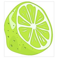 Tropical Summer Lime Poster