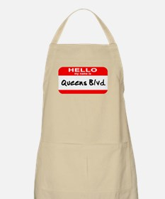 Hello My Name Is Queens Blvd BBQ Apron