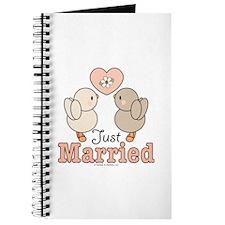 Just Married Bride Groom Journal