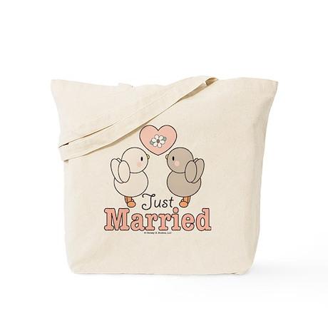 Just Married Bride Groom Bridal Wedding Tote Bag