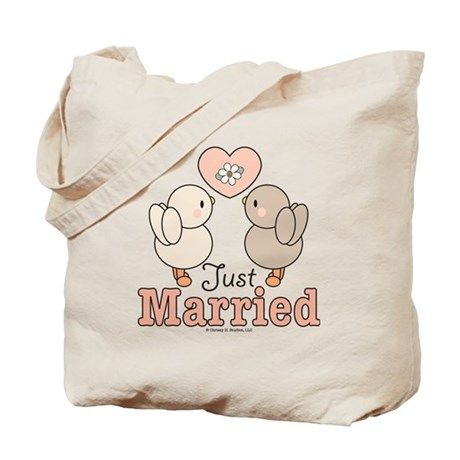 Just Married Bride Groom Bridal Wedding Tote Bag
