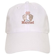 Just Married Bride Groom Baseball Cap