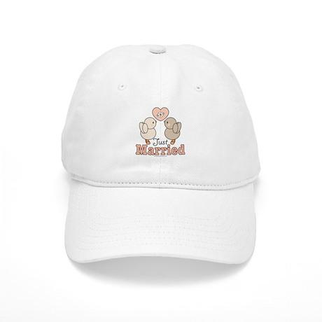 Just Married Bride Groom Cap