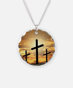 The Cross Necklace Circle Charm
